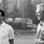 Футбольные тренеры Бышовец и Лобановский