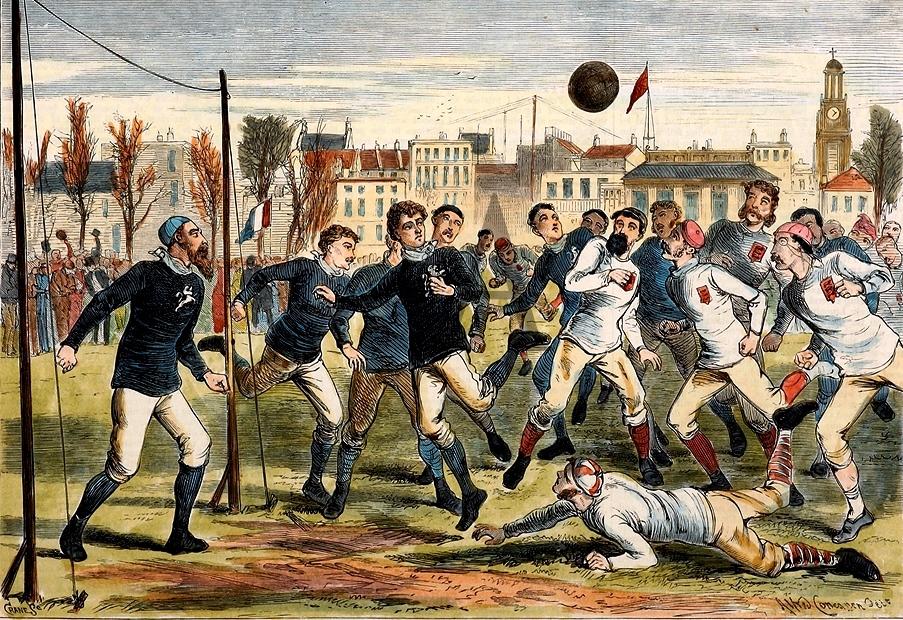 Первые игры в футбол