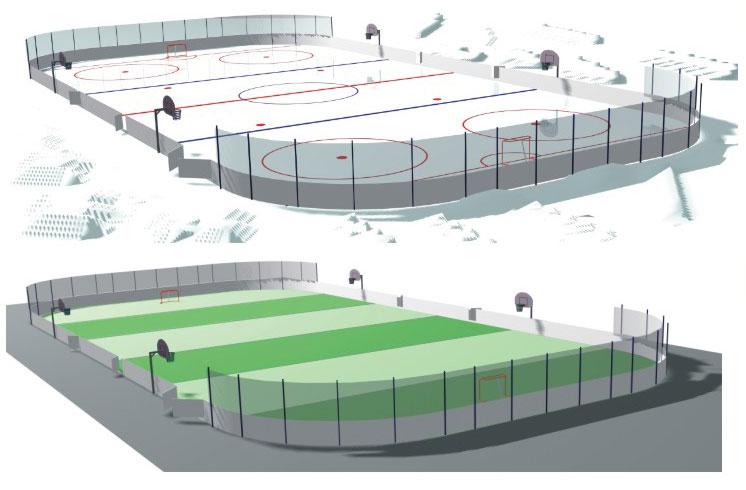Хоккейная/футбольная коробка