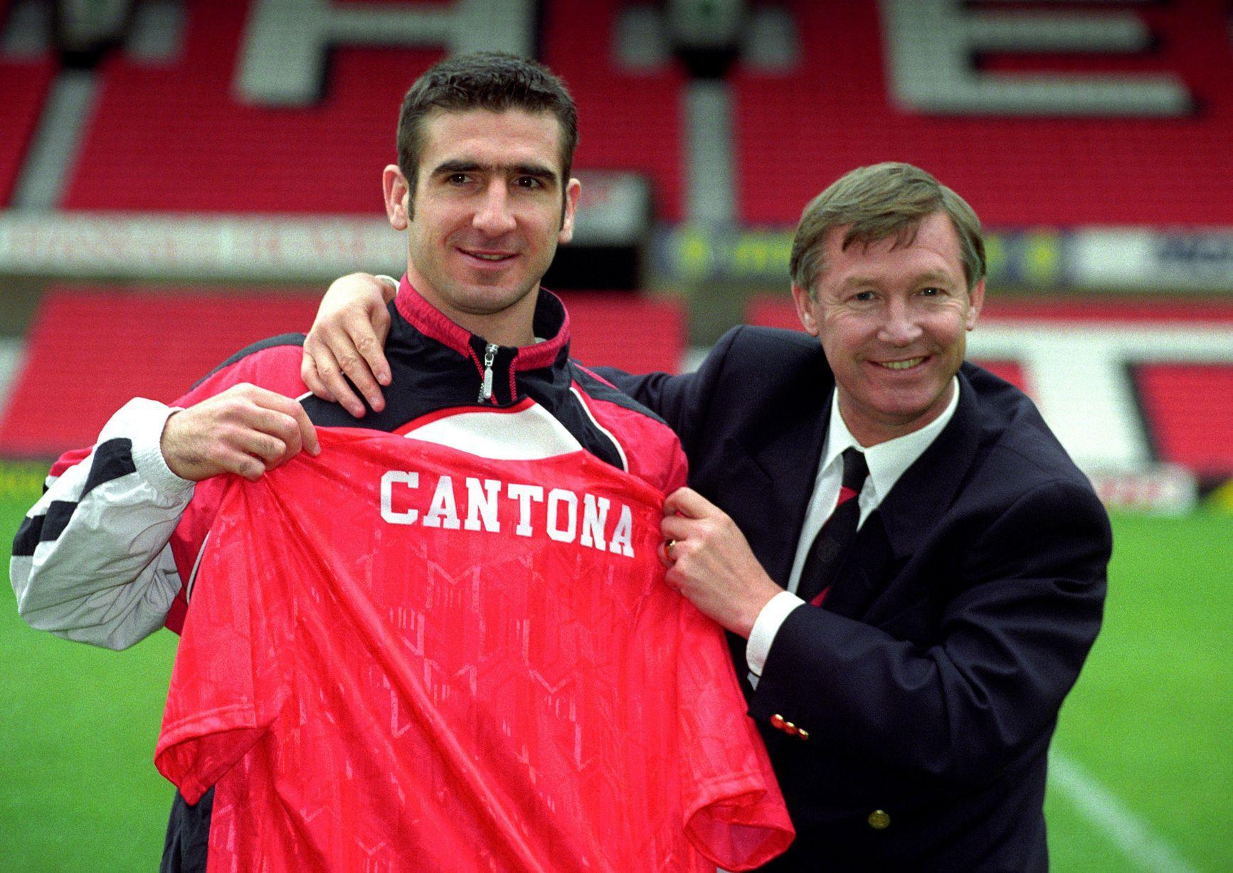 Alex Ferguson and Eric Cfntona